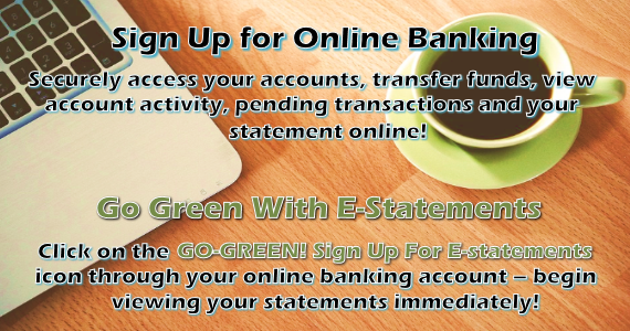 Online Banking and eStatements Ad